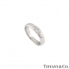 Tiffany & Co. Diamond Platinum Etoile Ring 0.23ct G/VS